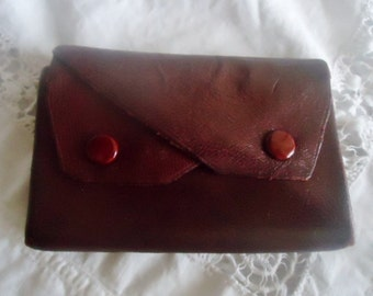 """French  wallet vintage """"KATANA""""-  French leather wallet 90's"""