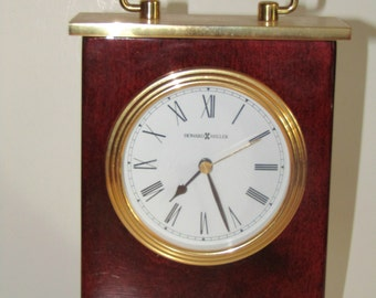 Vintage Howard Miller Clock Mantel Clock Table Clock Model 613-528
