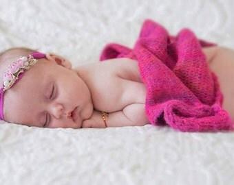 Baby photo prop blanket, Knit blanket