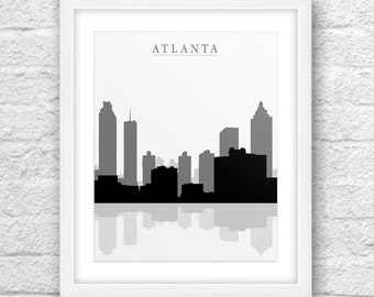 Atlanta City, Atlanta Printable, Atlanta Art, Atlanta Skyline, Minimalist Art, Instant Download, Atlanta City download, Atlanta Wall art