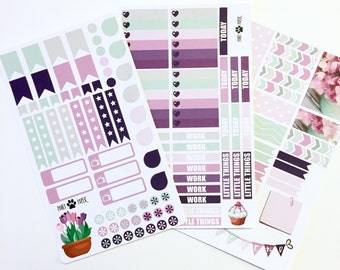 September VERTICAL Pastel Sticker Set
