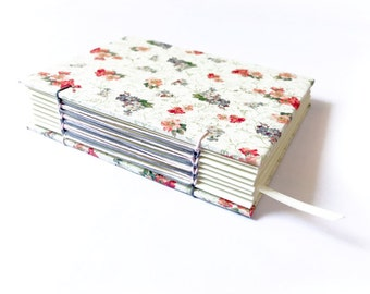 Coptic Stitched Notebook with a Long Stitch Variation | Handmade | Hardcover