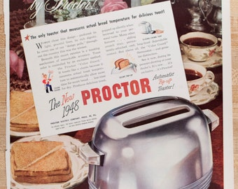 Proctor Toaster Ad from 1947 (AD47-44)