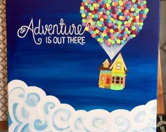 "Adventure is Out There, Pixar's ""Up!"" Painting"