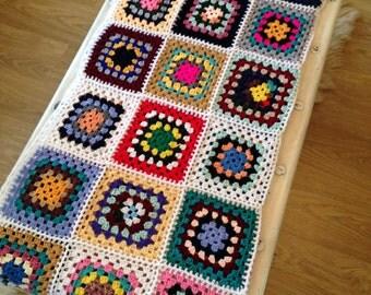 Vintage Granny Square/ Afghan Blanket