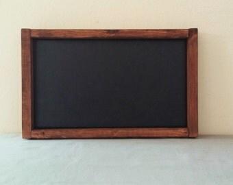 "Rustic wooden chalkboard, small, blank, black, home decor, chalk board, framed, wood frame, 14"" X 8.75"""