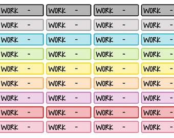 Work Schedule Labels (planner stickers)