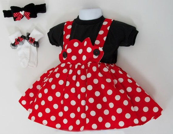 minnie mouse costume minnie mouse dress baby minnie. Black Bedroom Furniture Sets. Home Design Ideas