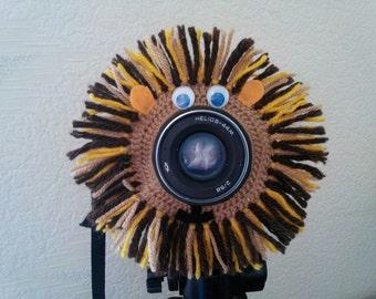Brave Lion, Camera Lens Buddy, Camera Accessories, Lens Buddy, Crochet Lens Critter, Photographer Helper, Family Photography