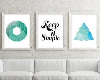 Set of 3, Printable Art Set, Print Set, Wall Art Set, Minimalist Poster, Minimalist Print, Sacred Geometry, Geometric Art Set, Zen Printable