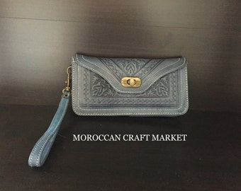 Moroccan Leather Clutch
