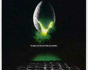 ALIEN Movie Poster Sci Fi Horror Predator