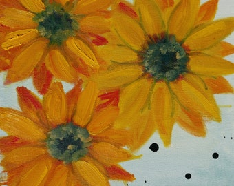 SUNFLOWERS Blank Notecard