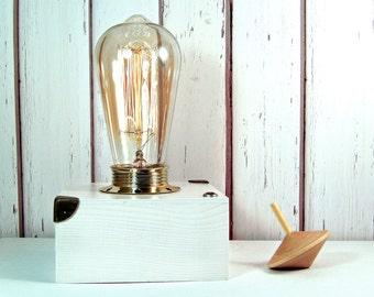 Small wood lamp | Etsy