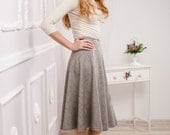 Midi Skirt / tweed skirt