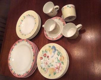 Pfaltzgraff Gramda's Kitchen Set of dishes and tea cup