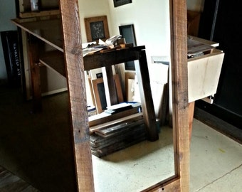 Mirrors wooden barn Brown and grey 33