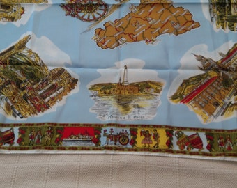 Souvenir Scarf from Sicily