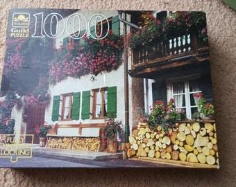 "Golden Guild 1000 piece jigsaw puzzle - ""Partenkirchen, W.Germany"" 27.5 x 21.5"