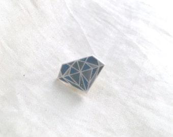 Blue Diamond Pin