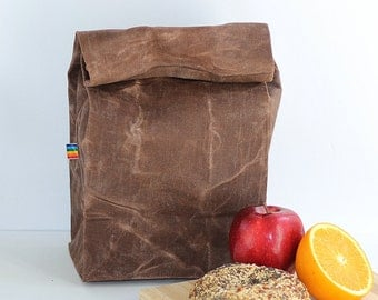 reusable lunch bag back to school gift for men eco friendly waxed