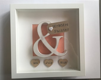 Personalised Mr & Mrs Wedding Frame Gift Keepsake Memento