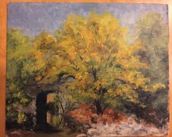 Original Oil on Board by Bucks County Pa Impressionist Artist Evelyn Twomey Schule