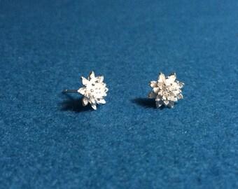 Sterling Silver Earrings, Flower Earrings, Silver 925 Earrings, Silver Earrings