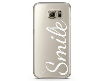 Samsung S7 clear case, clear Samsung Galaxy S7 Edge case, clear Samsung S7 Edge case,  Galaxy S5, Samsung Galaxy S6,Smile
