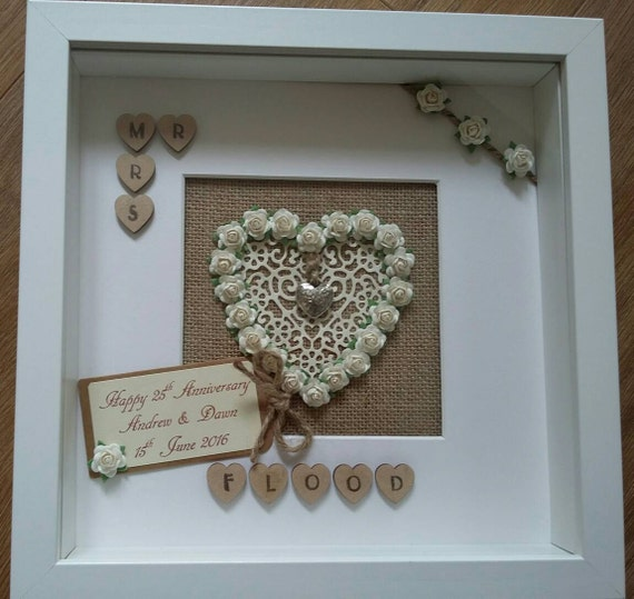 Personalised st paper th silver wedding anniversary