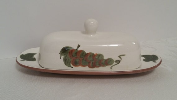 Stangl Orchard Song Butter Dish #5110