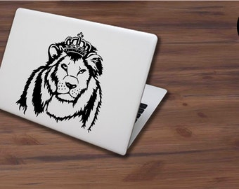 Majestic Royal King Lion  With Crown Custom Decal Sticker for Tab Laptop