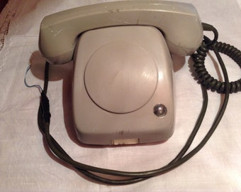 Retro Phone Without Dial and Buttons. Direct Connection Phone