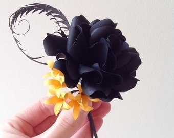 Boutonniere in Black