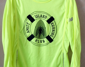 Women's New Balance Shirt in High-Vis Yellow- size small