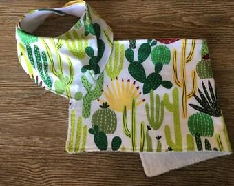 Cactus Bib and Burp Rag