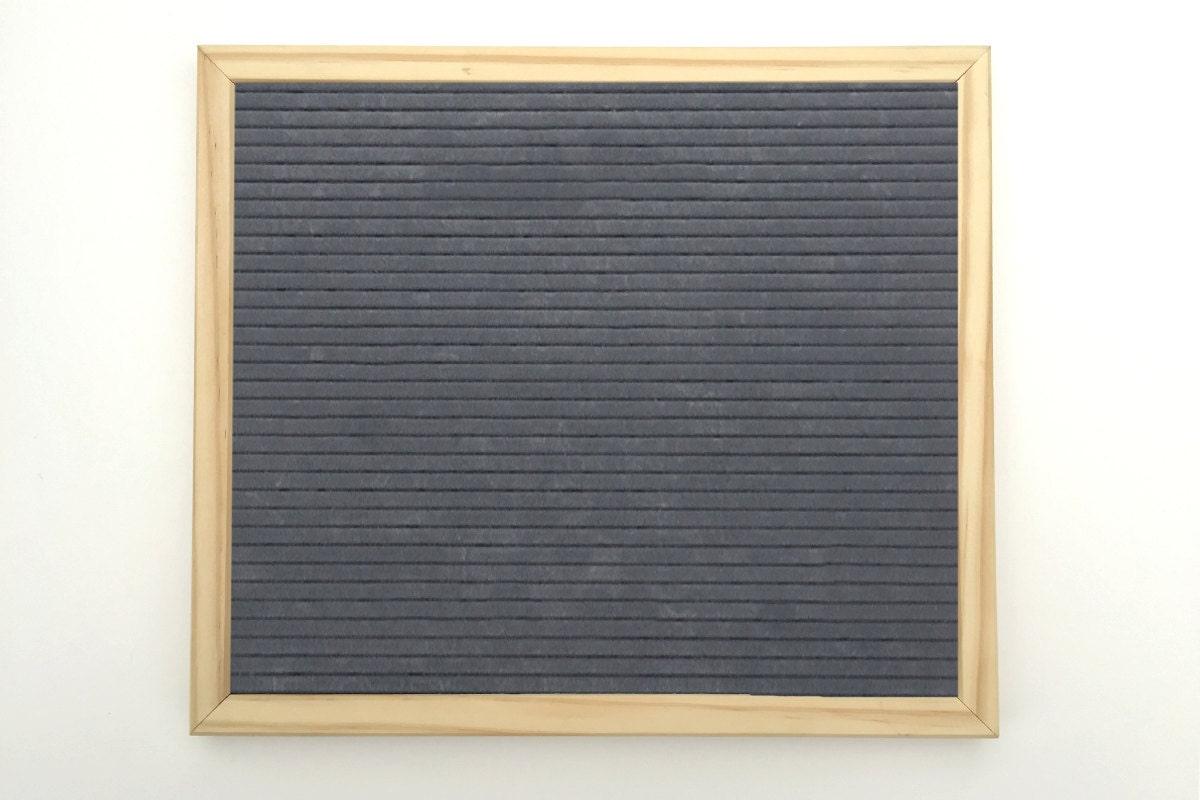 sale grey only felt letter boards 9 5 x 11 286. Black Bedroom Furniture Sets. Home Design Ideas