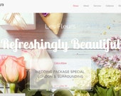 "WordPress Responsive Theme | ""Les Fleur"" | Modern Design"