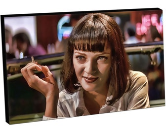 283 Print On Canvas Mia Wallace UMA THURMAN