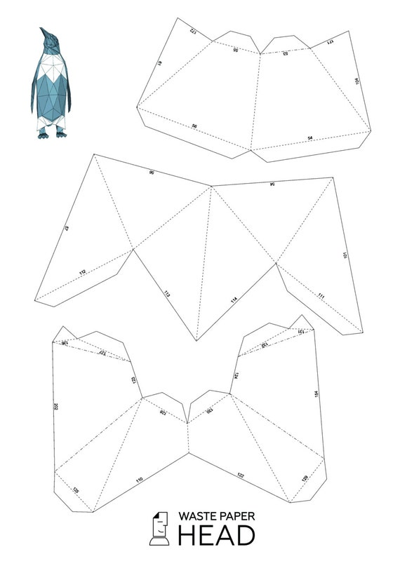 Papercraft Penguin Printable Diy Template