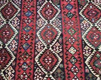 KURDISH kilim rug,flat  woven tribal kilim rug..