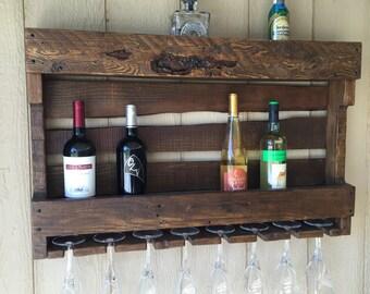 Full size rustic wine rack