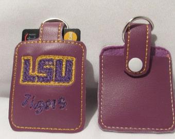 LSU, Credit Card sleeve, ID, Credit Card holder, Keychain, football