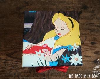 Hand-Painted Alice in Wonderland Box