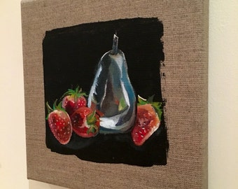 Silver Pear (silver fruit series)