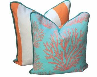 Coral Crush Pillow Cover -custom request of 8 -