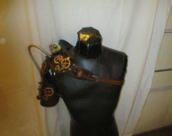 Steampunk shoulder pauldron