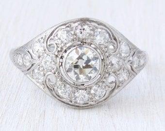 Versailles Edwardian Old European Cut Diamond Engagement Ring