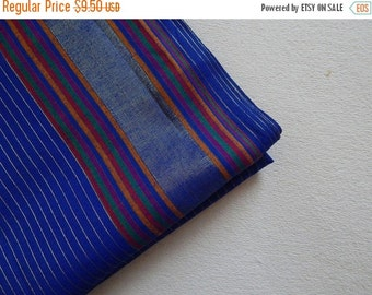 15% OFF 1 yard of South Cotton Fabric, Handwoven Fabric, Indian Cotton Fabric, Indian Fabric, Ethnic Fabric, Blue Fabric
