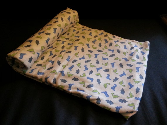 Baby dinosaur stegosaurus t rex fabric remnant 2yd x for Baby dinosaur fabric